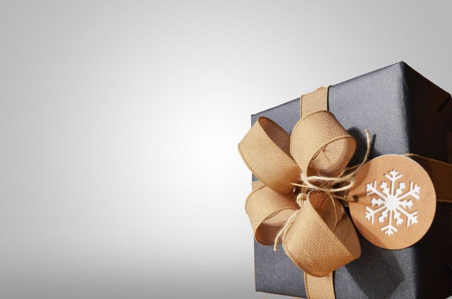 Grey gift box