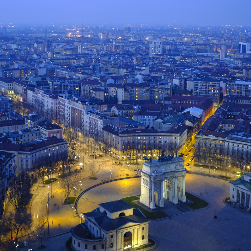 Milan, Italy Cityscape