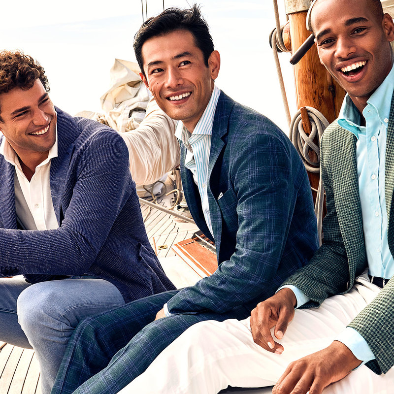 Many of our top men's designers are going beyond the suit and offering opportunities to customize casual-wear.