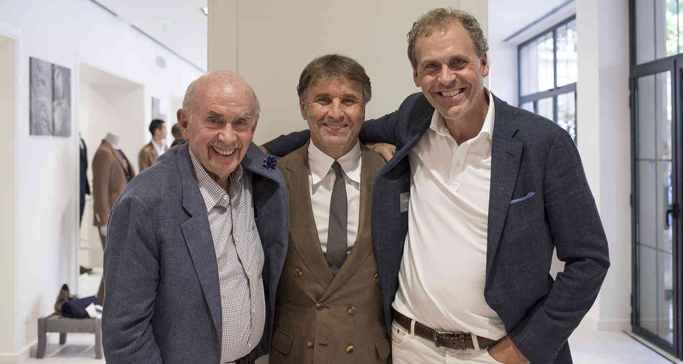 Jack & Bob Mitchell with Brunello Cucinelli