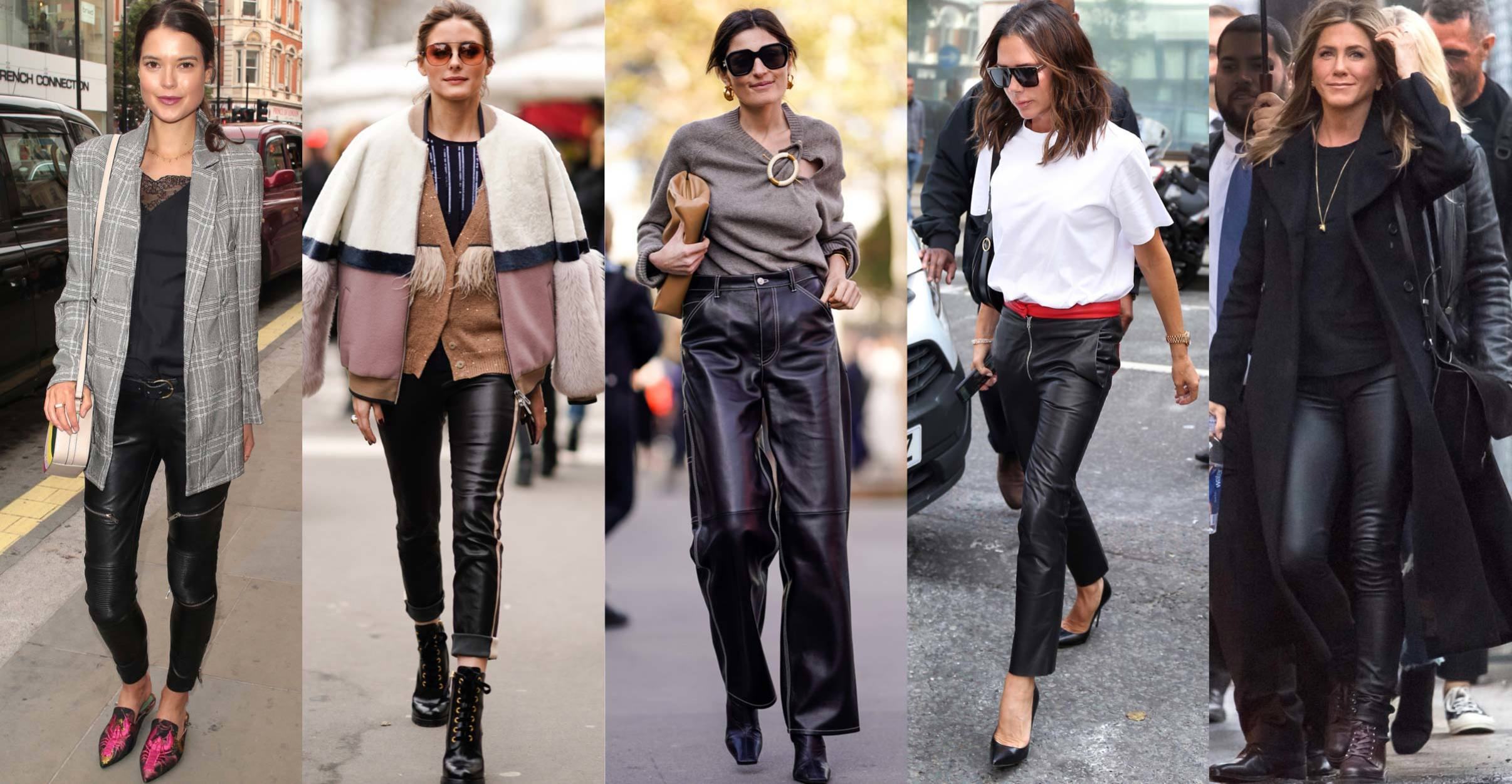 leather pant street style