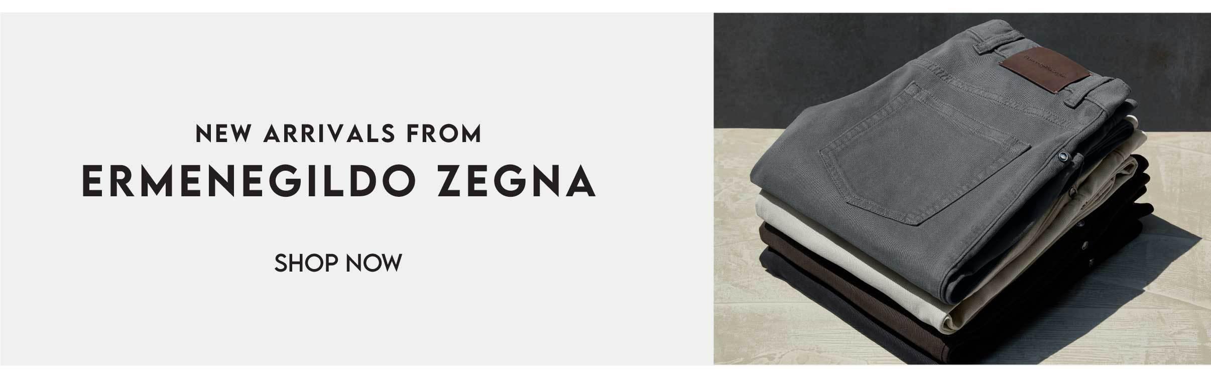 new arrivals from Ermenegildo Zegna