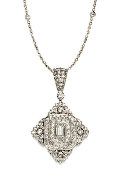 Penny Preville - White Gold Vintage Clip-On Pendant