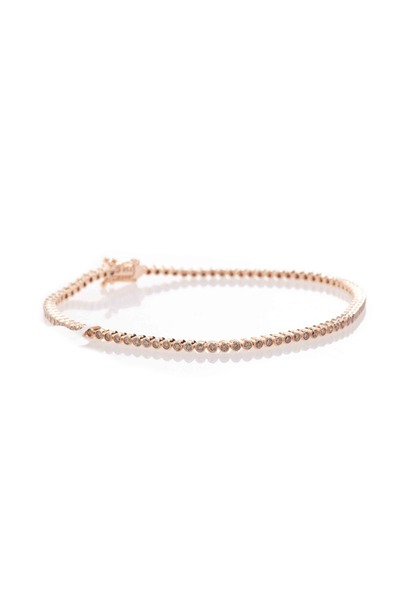 Paul Morelli - Pink Gold Cognac Diamond Stitch Bracelet
