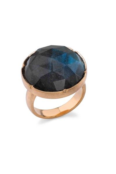 Irene Neuwirth - Rose Gold Rose-Cut Labradorite Ring