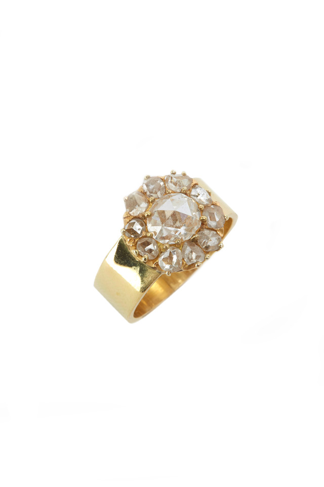 Yellow Gold Antique Rose-Cut Diamond Ring