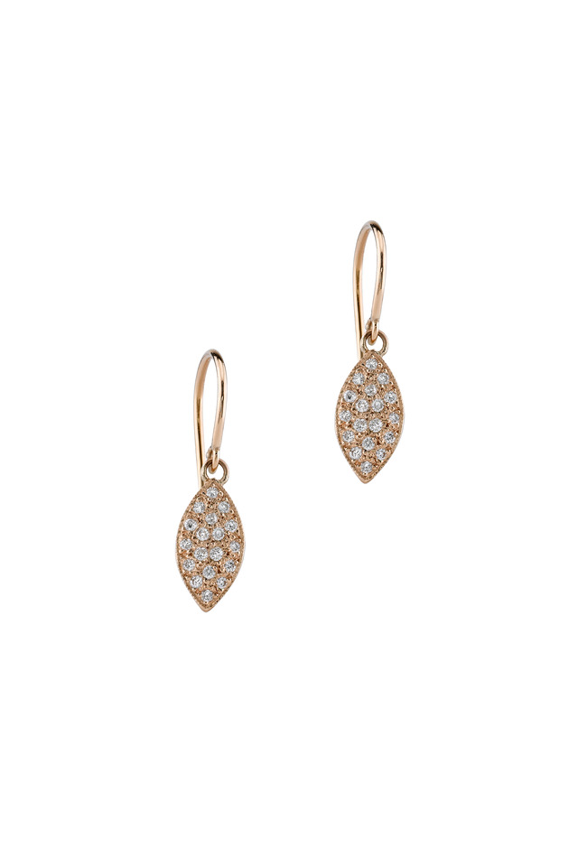 Rose Gold Marquise Diamond Earrings