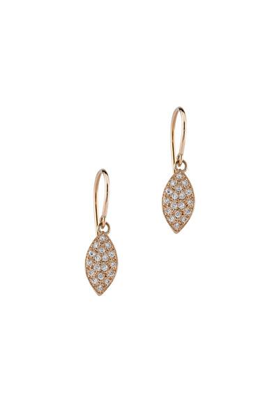 Irene Neuwirth - Rose Gold Marquise Diamond Earrings