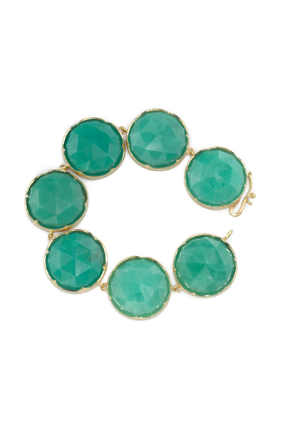 Irene Neuwirth - Yellow Gold Rose-Cut Chrysoprase Bracelet