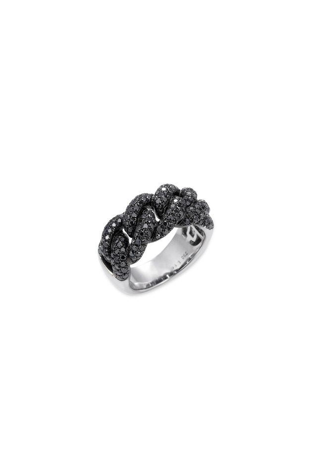 Sera White Gold Black Diamond Ring