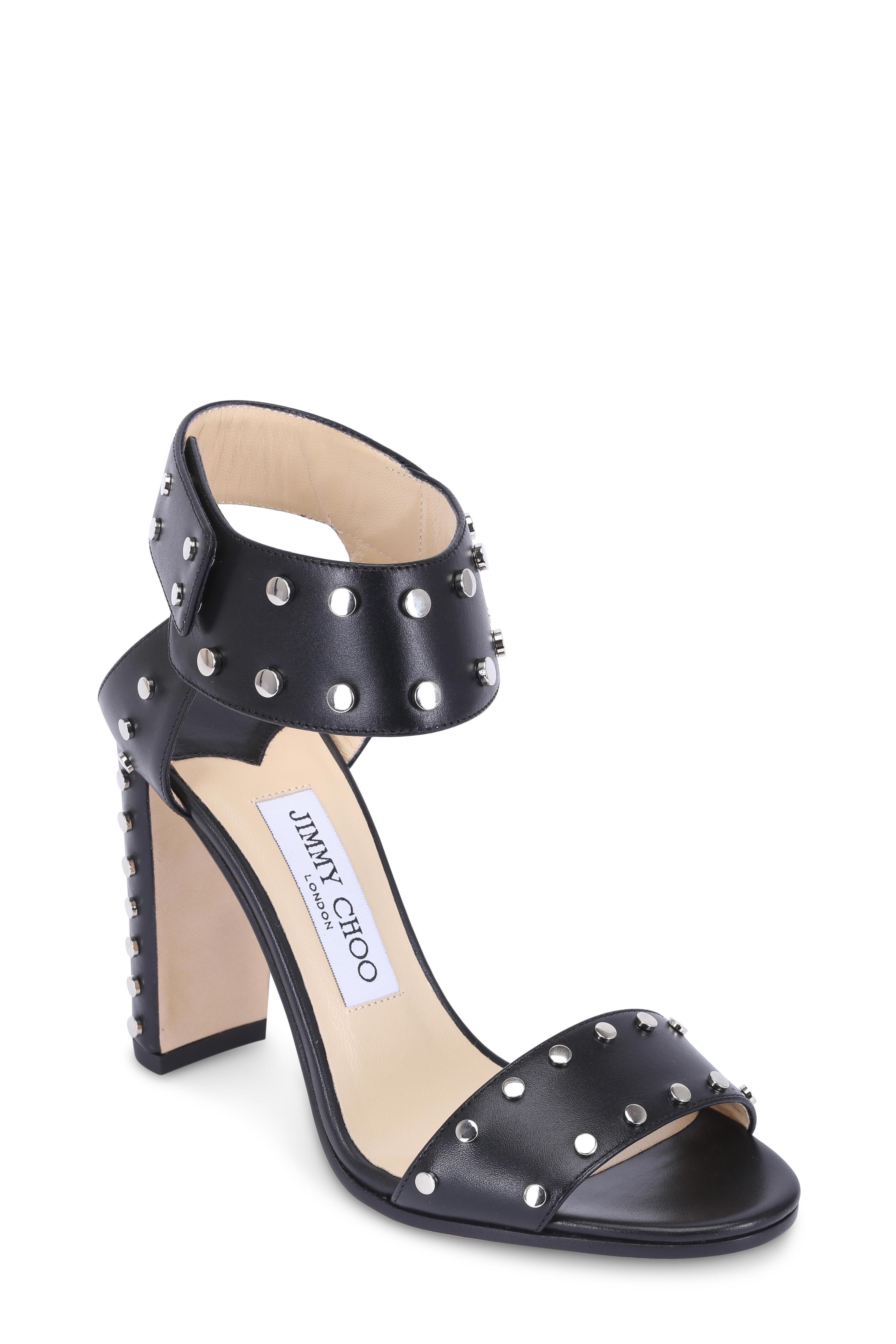 d2a3ce603ba Jimmy Choo - Veto Black Leather Studded Sandal