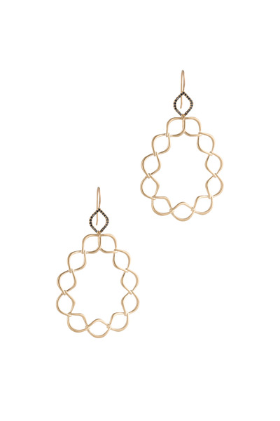 Jamie Wolf - Aladdin Yellow Gold Woven Link Diamond Earrings