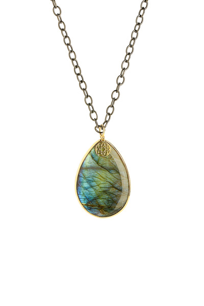 Syna - Gold Labradorite Limited Edition Tear Drop Pendant