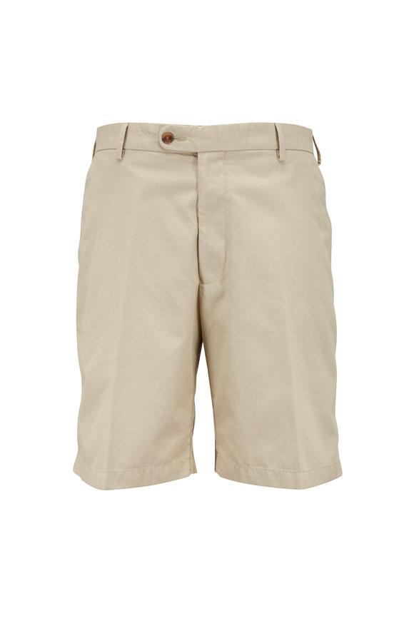 Peter Millar Khaki Lightweight Cotton Twill Shorts