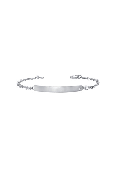 Irene Neuwirth - White Gold Rose-Cut Diamond ID Bracelet