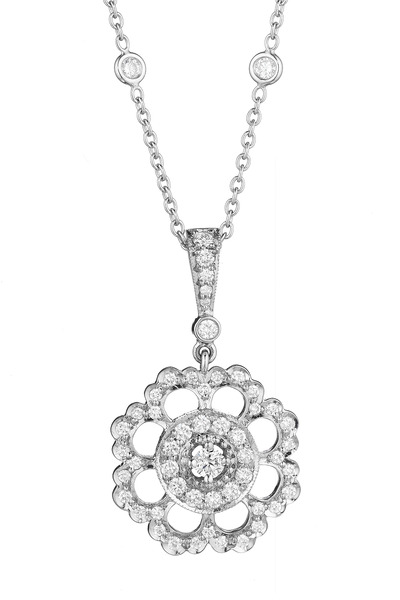 Penny Preville - White Gold Medium Scalloped Edge Diamond Enhancer