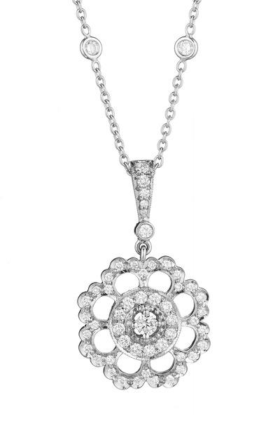 Penny Preville - White Gold Medium Scalloped Edge Diamond Enhancer