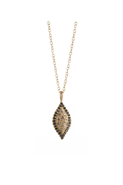 Jamie Wolf - Gold Black & Cognac Diamond Scallop Necklace