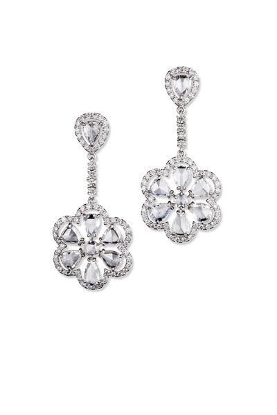 Kathleen Dughi - White Gold White Diamond Earrings