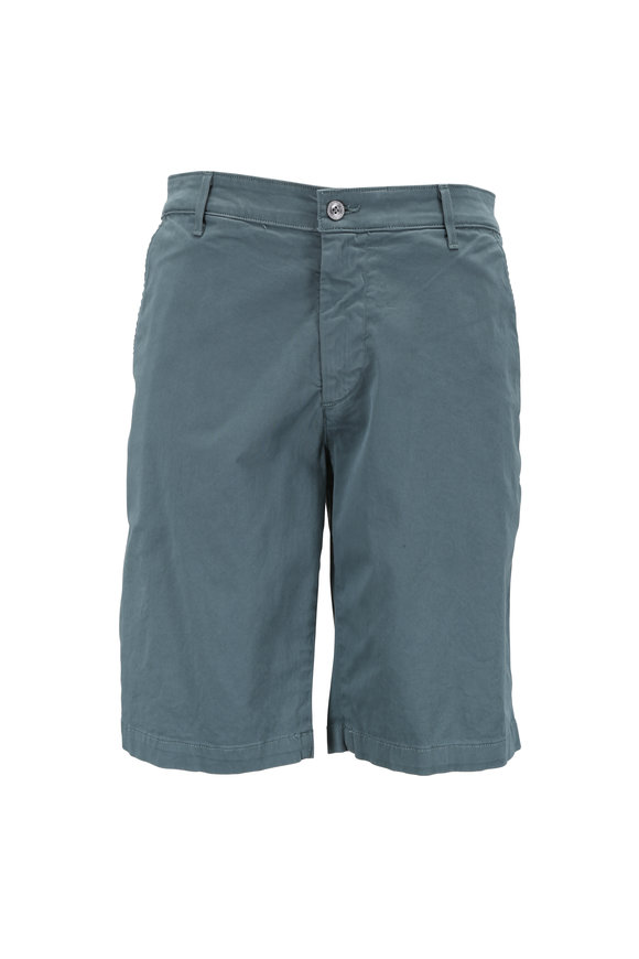 AG - Adriano Goldschmied The Griffin Sage Green Stretch Cotton Shorts