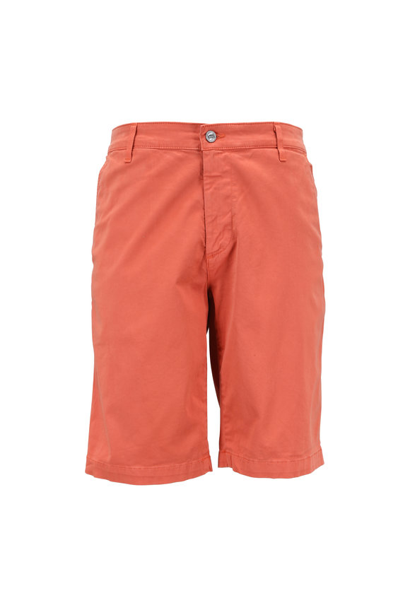 AG - Adriano Goldschmied The Griffin Brick Red Stretch Cotton Shorts