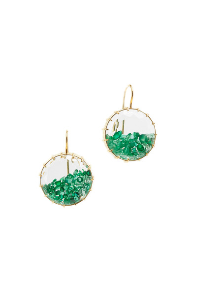 Renee Lewis - Yellow Gold Emerald Shake Earrings