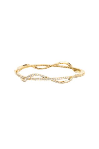 Paul Morelli - 18K Yellow Gold Diamond Nouveau Bangle