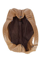 Bottega Veneta - Campana Camel Intrecciato Leather Small Hobo Bag
