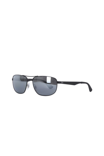 Ray Ban - Dark Green Matte Black Lens Sunglasses