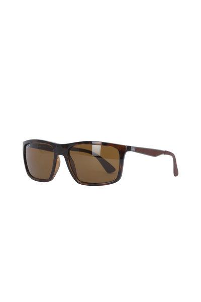 Ray Ban - Brown Rectangle Frame Sunglasses