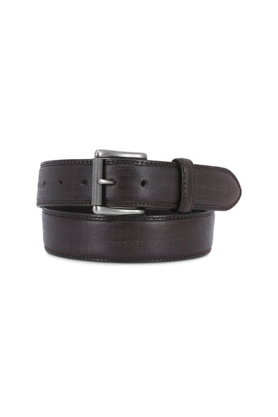 Aquarius - The Lapo Brown Vintage Scarred Leather Belt