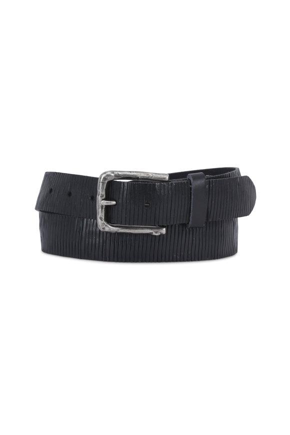 Aquarius The Neri Blue Soft-Cut & Creased Leather Belt