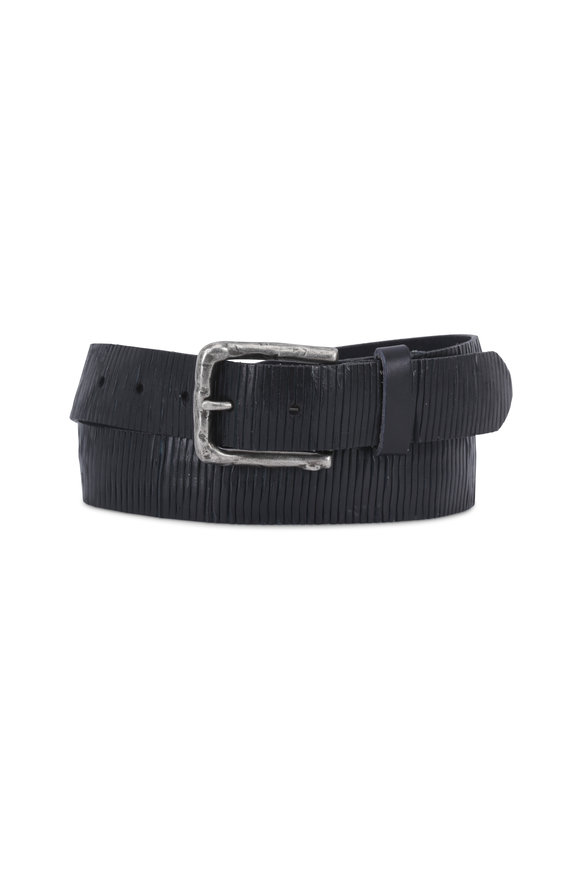 Aquarius The Neri Blue Soft-Cut & Creased Leather Belt