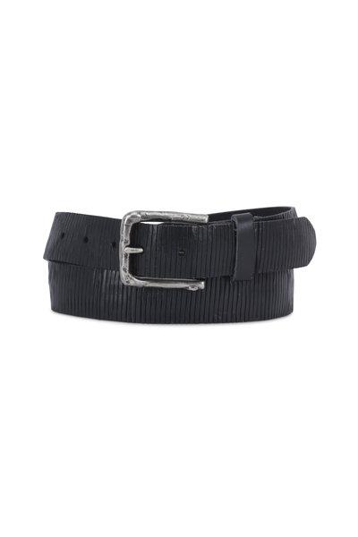 Aquarius - The Neri Blue Soft-Cut & Creased Leather Belt