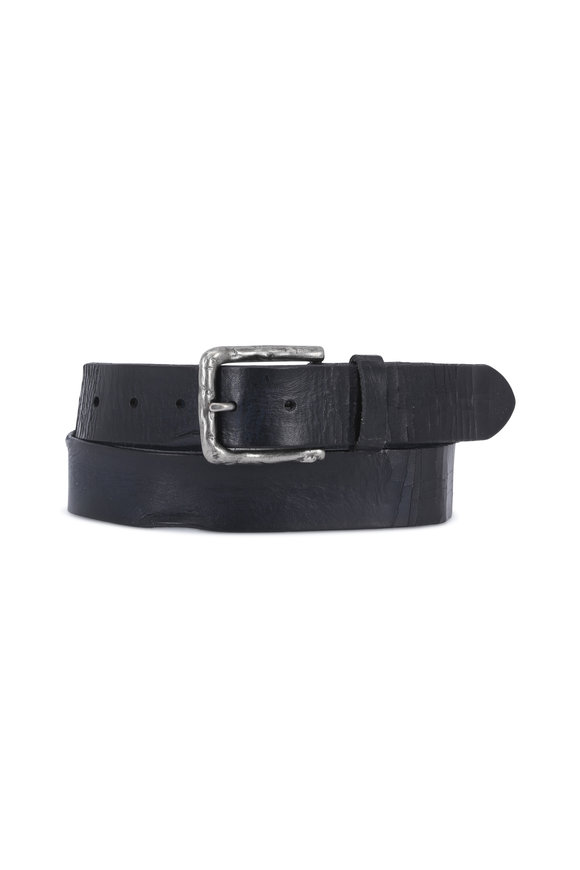 Aquarius The Arrigo Blue Soft Leather Belt
