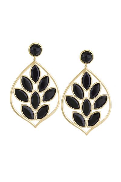 Jamie Wolf - Yellow Gold Black Onyx Acorn Earrings