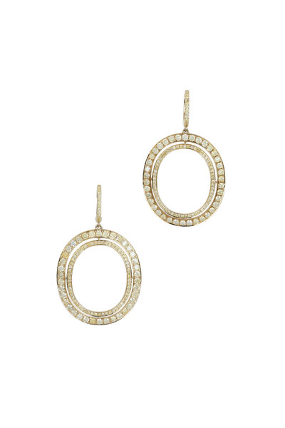 Kathleen Dughi - 18K Yellow Gold Yellow Diamond Earrings