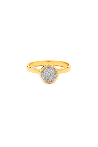 Syna - Yellow Gold Medium Stack Bauble Diamond Ring