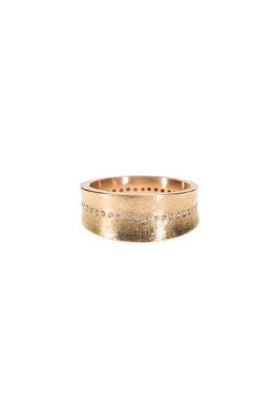 Todd Reed - Rose Gold Brilliant-Cut White Diamond Ring