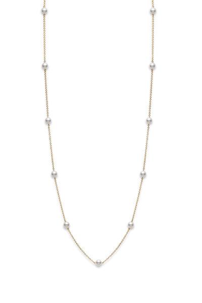 Mikimoto - 18K White Gold Akoya Pearl Chain