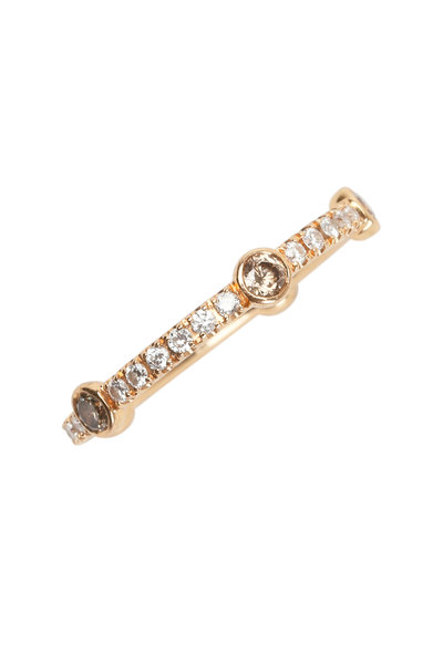 Kwiat - 18K Pink Gold Diamond Confetti Stackable Band