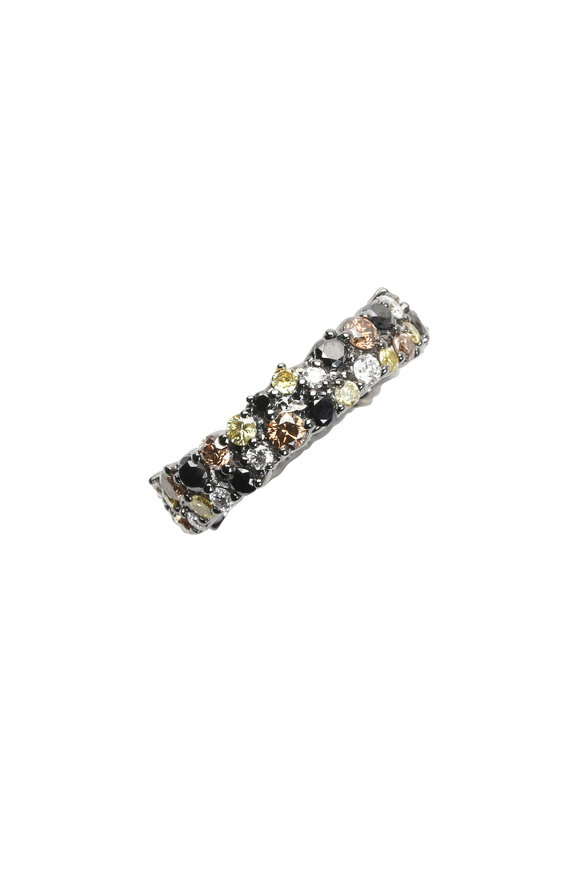 Paul Morelli 18K White Gold & Rhodium Diamond Ring