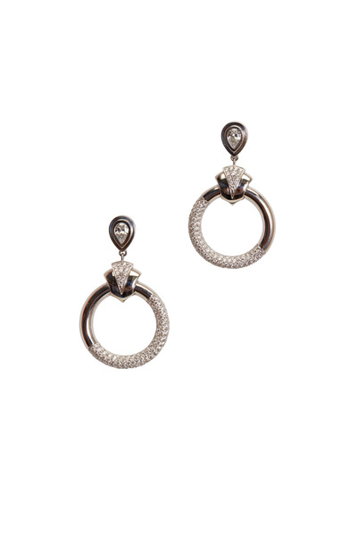 Kathleen Dughi - Platinum Diamond Drop Earrings