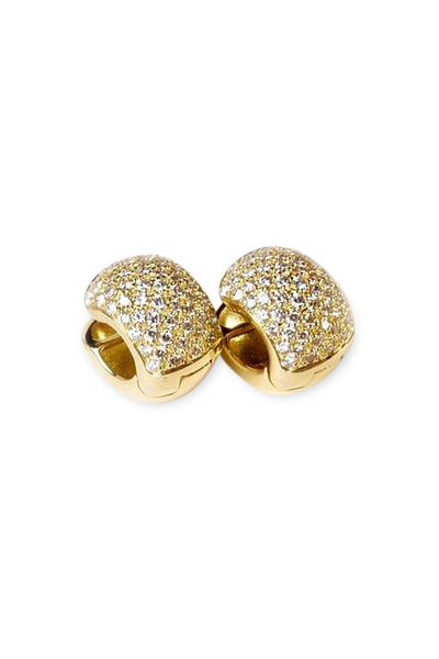 Kathleen Dughi - 18K Yellow Gold Diamond Dolce Huggie Earrings