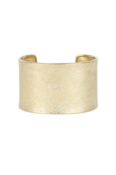 Todd Reed - Yellow Gold Raw Diamond Cuff Bracelet