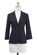 The Row - Schoolboy Navy Blue Wool Jacket