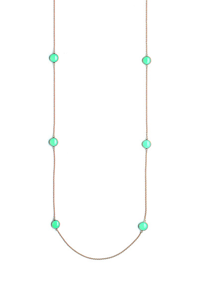 Syna - Yellow Gold Chrysoprase Chakra Necklace