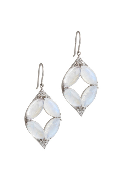 Jamie Wolf - Aladdin White Gold Moonstone & Diamond Earrings