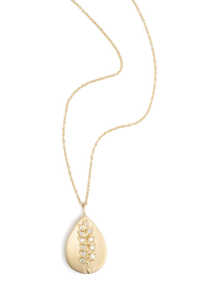 Jamie Wolf - Yellow Gold Vine Fossil Diamond Pendant