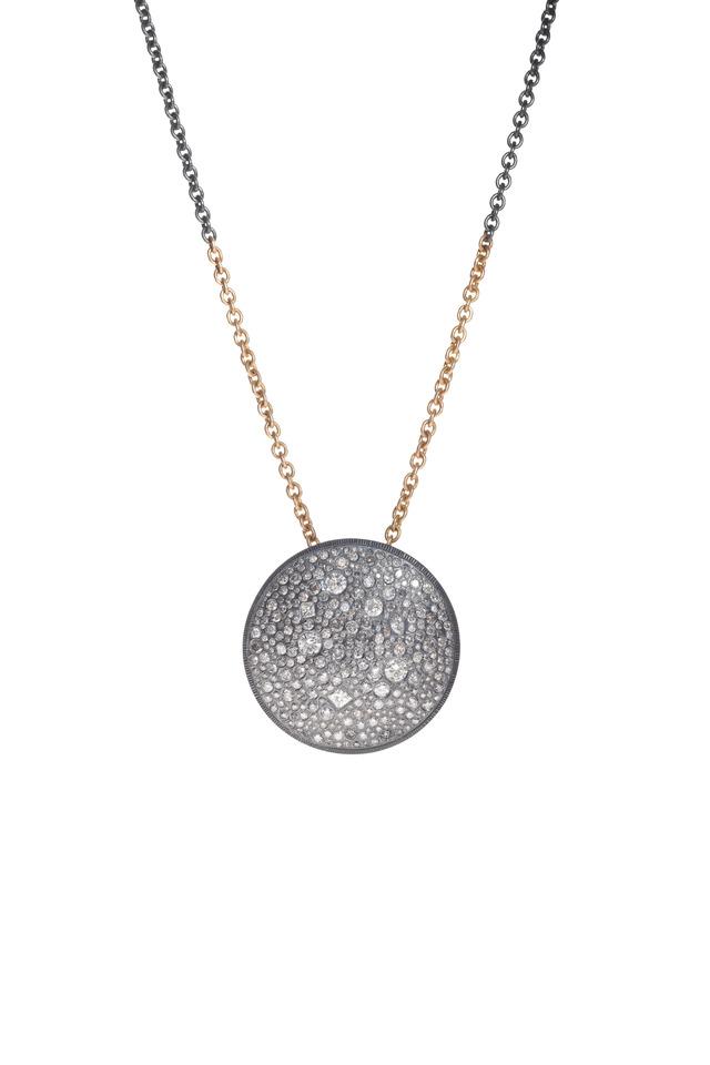 Gold Autumn & White Diamond Necklace